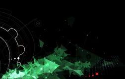 De abstracte zwarte achtergrond van de technologiebusuness van de toestelbrand Royalty-vrije Stock Afbeelding
