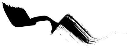 De abstracte zwarte penseelstreep boog lint regelmatig geometrische vorm royalty-vrije stock foto