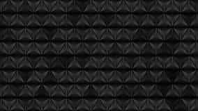 De abstracte zwarte videoanimatie van de driehoekentextuur stock video