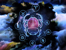 De Abstractie van de astrologie Stock Afbeelding