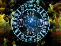 De Abstractie van de astrologie Royalty-vrije Stock Afbeelding