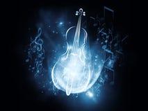 De Abstractie van de muziek Stock Fotografie