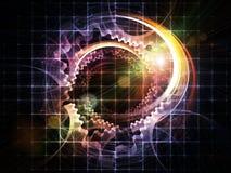 De Abstractie van de Slepen van de technologie Royalty-vrije Stock Afbeeldingen