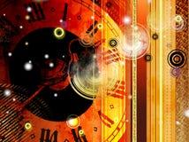 De abstractie van de tijd Stock Foto