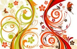 De abstractie van Foral Stock Foto