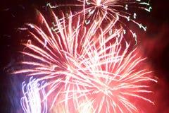 De abstractie van het vuurwerk Stock Fotografie