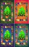De abstractie van Kerstmis.   Royalty-vrije Stock Afbeelding