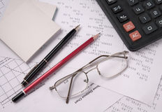 De Accountant van het stilleven stock foto's