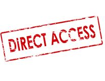 De acesso direto ilustração do vetor