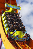 De achtbaan van de Rcraceauto in disneyland Parijs stock afbeelding