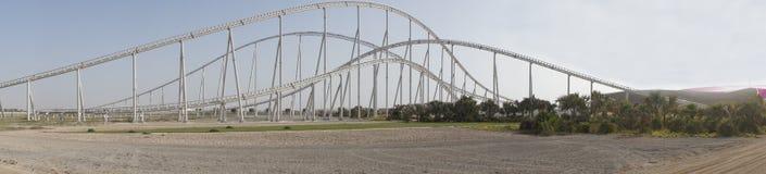 De achtbaan van de Wereld van Ferrari Stock Foto's