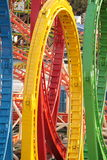 De achtbaan van Oktoberfest Royalty-vrije Stock Foto's