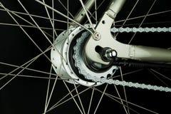 De achter delen van het fietswiel Stock Fotografie