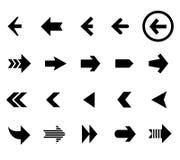 De achter en volgende vectorreeks van pijlpictogrammen Royalty-vrije Stock Afbeelding