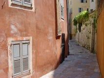 De achter-steeg van de Provence Royalty-vrije Stock Fotografie