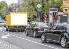 De achterdeur aan de vrachtwagen Royalty-vrije Stock Afbeeldingen