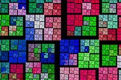 De achtergrond bestaat fractal veelkleurige textuur en geschikt voor gebruik uit projectenverbeelding stock illustratie