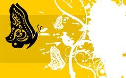 De achtergrond card7 van de vlindertatoegering Royalty-vrije Stock Foto's