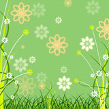 De achtergrond Copyspace toont Flora Abstract And Copy-Space stock illustratie