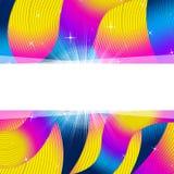 De achtergrond Copyspace vertegenwoordigt Trillend en Kleurrijke Kleur Stock Afbeelding