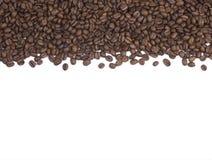 De Achtergrond of de Grens van koffiebonen royalty-vrije stock fotografie