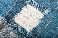 De achtergrond of de textuur van jeans Royalty-vrije Stock Afbeelding