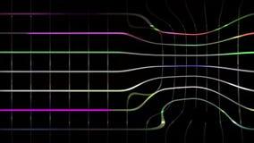 De achtergrond die van de animatiemotie de rassenbarrières van de discostijl kenmerken vector illustratie