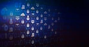 De achtergrond drukte de Globale van de de kaarttoetsenbordvergrendeling van de netwerkbeveiligingwereld digitale wereld van de h stock foto