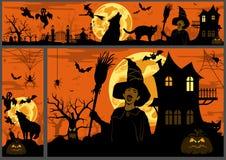 De Achtergrond en de Banners van Halloween vector illustratie