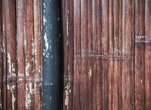 De achtergrond en de textuur van de bamboemuur Royalty-vrije Stock Fotografie