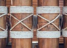 De achtergrond en de textuur van de bamboemuur Royalty-vrije Stock Foto