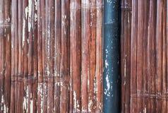De achtergrond en de textuur van de bamboemuur Royalty-vrije Stock Foto's