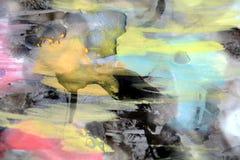 De achtergrond en de was van de pastelkleurwaterverf Royalty-vrije Stock Foto's