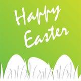 De achtergrond en het ei van Pasen in gras Pasen-kaart met plaats voor tekst Royalty-vrije Stock Afbeeldingen