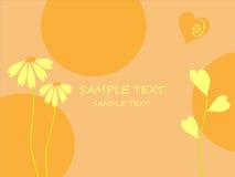 De achtergrond flowerses. Stock Afbeelding