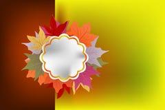 De achtergrond hello herfst Stock Afbeelding