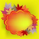 De achtergrond hello herfst Stock Foto's