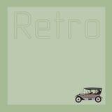 De achtergrond met de oude auto Royalty-vrije Stock Foto's