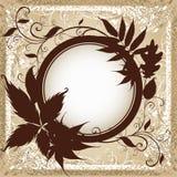 De achtergrond met frame met de Herfst doorbladert. Royalty-vrije Stock Foto's