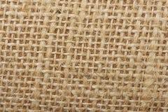 De achtergrond met de oude jute, sluit omhoog royalty-vrije stock foto's