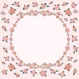 De achtergrond met roze retro nam toe Stock Foto's