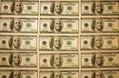 De achtergrond-muur paper-April-7-08_4092 van het contante geld Stock Foto's