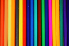 De achtergrond/de textuur van de kleurpotlodenrij royalty-vrije stock foto