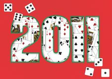 de achtergrond van 2011 Royalty-vrije Stock Afbeeldingen