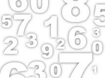 De achtergrond van aantallen Royalty-vrije Stock Afbeelding