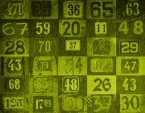 De achtergrond van aantallen Stock Foto's