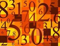 De achtergrond van aantallen Stock Illustratie
