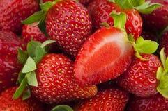 De achtergrond van aardbeien Royalty-vrije Stock Afbeeldingen