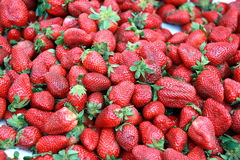De achtergrond van aardbeien royalty-vrije stock afbeelding
