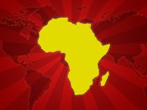 De achtergrond van Afrika Stock Afbeelding